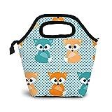 Baby Foxes - Bolsa de almuerzo, bolsa de neopreno con aislamiento, organizador, contenedor de almuerzo para mujeres, hombres y niños, b