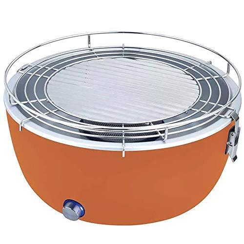 Barbecue Portatile da tavolo a carbone carbonella senza fumo ventilato ideale per campeggio casa con...