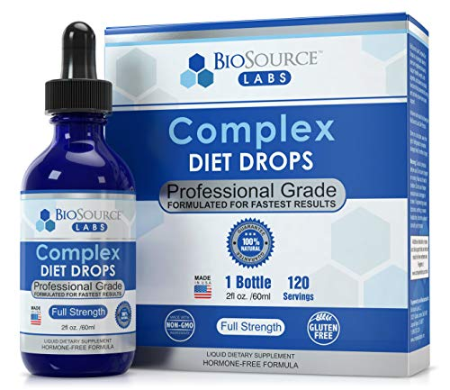 BioSource Labs Complex Diet Drops – Best Natural Weight Management Drops for Men and Women (1 x 2-Ounce Bottle) 1