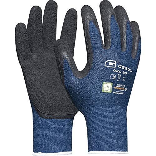 Gebol lavoro guanto Cool Grip misura 9fibra di bamb con clima funzione, Grigio, 528926, Grigio,...