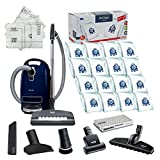Miele Complete C3 Marin Canister HEPA Canister Vacuum Cleaner with SEB236 Powerhead Bundle - Includes Performance Pack 16 Type GN AirClean Genuine FilterBags + Genuine AH50 HEPA Filter