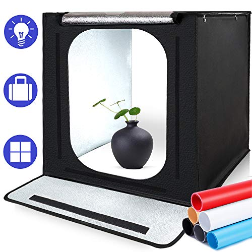 SAMTIAN Photo Light Box, Portable 16x16x16 Inches...