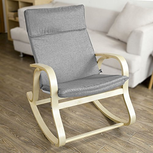 Haotian FST15-DG, Comfortable Relax Rocking Chair, Lounge Chair Relax Chair Cushion