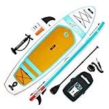 """surfstar Inflatable Paddle Board, Stand Up Paddle Boards for Adults, 10'6''x33''x6"""" Paddleboard Lightweight SUP with Premium Ankle Leash, Floating Paddle, Dual Action Pump, Backpack, Waterproof Bag…"""