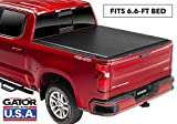 Gator ETX Soft Roll Up Truck Bed Tonneau Cover | 53110 | Fits 2014 - 2018, 2019 Ltd/Lgcy GMC Sierra & Chevrolet Silverado 1500 6'6' Bed Bed | Made in the USA