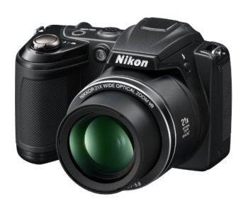 Nikon Coolpix L310 14.1MP Digital Camera with 21x Optical Zoom - BLACK