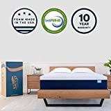 Sleep Innovations Shiloh 14-inch Memory Foam Mattress Bed in a Box, Made in The USA, 10-Year Warranty, Queen, White