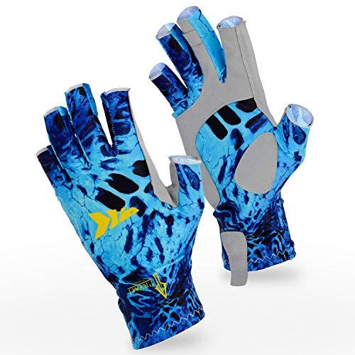 1. KastKing Sol Armis Sun Gloves UPF50+ Kayaking Gloves