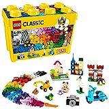 LEGO Classic Scatola Mattoncini Creativi Grande, Set di Costruzioni Divertenti, Contenitore Giocattoli Colorati, 10698