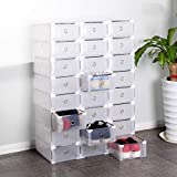 Jueyan Lot de 24 Boîtes De Rangement Boîtes à Chaussures avec Couvercle...