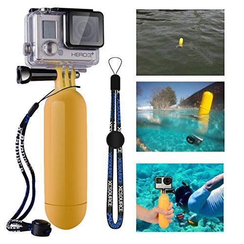 Monopiede Diving Floaty Floating mano impugnatura + Screw + cinturino da polso accessori galleggiante per GoPro Hero 233+ (giallo)