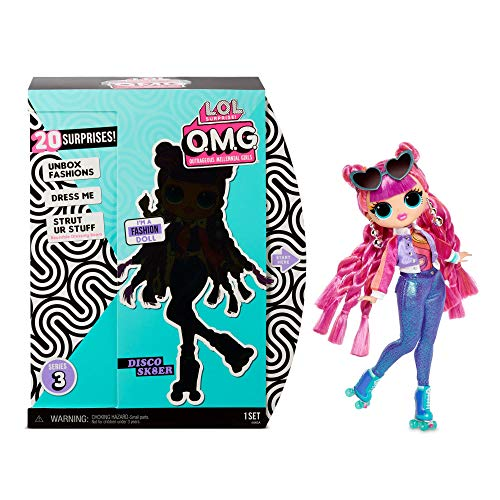 L.O.L. Surprise! O.M.G. Series 3 - Roller Chick Fashion Doll with 20 Surprises Including Roller Skates, Purse, Hairbrush, Doll Stand, Garment Bags, Shoe Box, Accessories, Hat Box, and More | Ages 4+