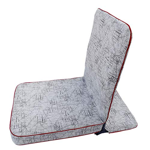 TipTop Powder coated Iron Meditation Chairs/Yoga Chairs with Back Support Sheet (Red, Maroon, 19 x 17 x 3 Inches)