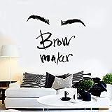 Clásico creativo ceja máquina pared maquillaje ceja maestro salón de belleza decoración vinilo palabra arte   adecuado para niños niña dormitorio jardín de infantes fiesta boda