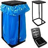 Support pour sac poubelle noir max. 60 litres Porte sac...