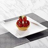 MALACASA, Serie Carina, 2 TLG. Set Cremeweiß Porzellan 13,25/11 Zoll Servierteller Speiseteller Essteller Servierplatte Dessertteller