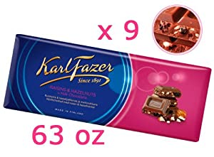A perfect combination of nuts, raisins and Karl Fazer Milk Chocolate. 100% brand new and never opened One day handling time Shipping with tracking number The product is always fresh