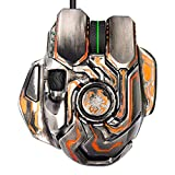 SSSLG RGB Wired Gaming Mouse, 10000pdi8 Button, Professional e-Sports Mouse, Adjustable Mouse Size, Custom Lighting Effects, Left Macro Programming Wheel,Metallic