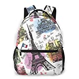 Shichangwei Mochila Escolar Paris Architecture Eiffel Tower Durable Kids Back To School Backpack Polyester Book Bag For Boys Girls Adults