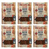 Original Bacon Jerky 6 Pack - Bacon Jerky By Pork Barrel BBQ, 2 oz (Pack of 6), Uncured, Gluten Free, Nitrate Free Bacon Jerky