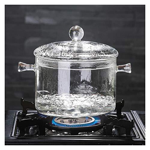 Vasi di vetro per la cottura in vetro borosilicato resistente al calore, pentola per zuppa trasparente per bollire l'acqua istantanea tagliatelle porridge fornello stock Pot