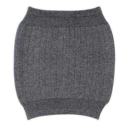 Milya Winter Kaschmir Nierenwärmer Rückenwärmer Elastisch Taille Unterstützung, Grau, 30 x 32cm