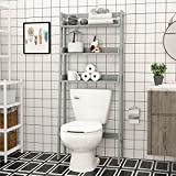 UTEX 3-Shelf Bathroom Organizer Over The Toilet, Bathroom Spacesaver...