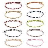 VU100 10PCS Bracelets Fille Femme Bracelet de l'amitié tressés Faits à la...
