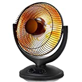 Tangkula Space Heater, Electric Portable Heater for Home and Office, Tip-Over and Overheating Protection, Dish Heater