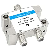 Tolmnnts 2-Way Coaxial Cable Splitter 5-2500MHz,Work with CATV, Satellite TV,Antenna System and MoCA Configurations (2 Way)