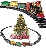 Prextex Christmas Train Set- Around The Christmas Tree with Real Smoke, Music & Lights