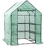 D4P Display4top Serre de Jardin PE Plastique Tente abri 143 x 143 x 195 cm