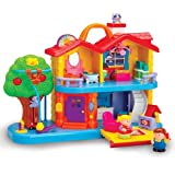 Constructive Playthings GWL-730 CP Toys Toddler Interactive Discovery House Playset with Sounds