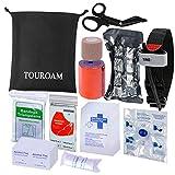 TOUROAM Kit de Premiers Secours médical Sac de Sauvetage IFAK Molle Combat...