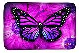 AUPET Carpets Floor Door Mat Carpets Indoor/Outdoor Area Rugs Garden Office Door Mat,Kitchen Dining Living Hallway Bathroom Pet Cat Dog Feeding Mat Pad Entry Rugs (16 X 24, Big Purple Butterfly)
