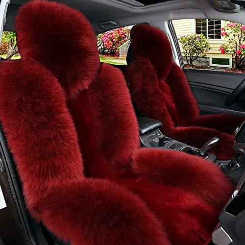 LZDseller01 Auto Schaffell Vordersitzbezug, Autositzbezug, abnehmbare Winter Universal weiche Autositzbezug künstliche Wollkissen