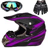 Motorcycle Helmet, Powersports Motorcycle Man Woman Adult ATV MX Helmet, DOT Certification Standard, Four Seasons,B,L