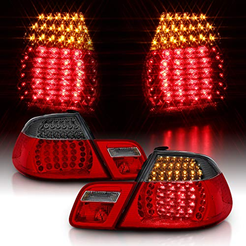 AmeriLite Convertible L.E.D Taillights Set Red/Smoke 4 Pcs for BMW 3 Series E46 - Passenger and Driver Side