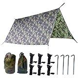 TRIWONDER Tapis de Sol Camping Camouflage Tarp Léger Bâche de Sol Camping...