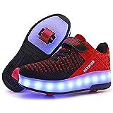 Ali-tone LED Chaussures à roulettes Fille garçon Retractable Basket a...