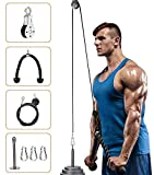 Elikliv Pulley System Gym, Fitness Pulley Cable Machine LAT Pulldown Attachments, Tricep Pulley System with Loading Pin for Triceps Pull Down, Biceps Curl, Back, Shoulder, Home Gym Workout Equipment