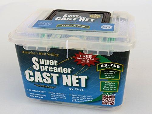 FITEC 10140 RS750 Super Spreader Clear, 4' Radius, 3/8' mesh, 3/4 Lb wts