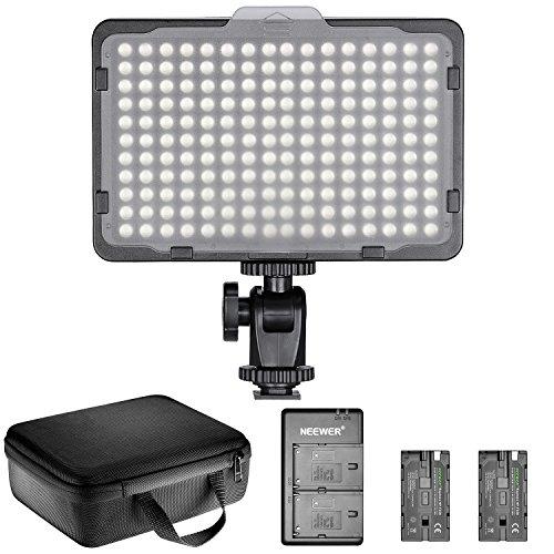 Neewer Kit d'Illuminazione Pannello Luce LED 176 Bulbi Dimmerabile: Luce LED 3200-5600K, 2pz...