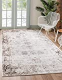 Unique Loom Sofia Collection Traditional Vintage Area Rug, 5' x 8', Ivory/Brown