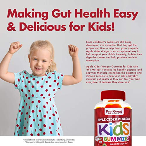 Feel Great Vitamin Co. Apple Cider Vinegar Gummies for Kids | Digestive & Immunity Support* | Healthy Gut Support for Children* | Natural Digestive Enzymes & Digestive Support for Boys and Girls 5