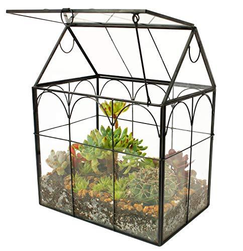 ElegantLife Succulent Terrarium,House Shape Handmade Succulent Pot...