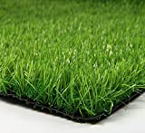 Synturfmats Premium Indoor/Outdoor Green Artificial Grass Rug - 6'x12' Decorative Synthetic Turf Runner Rugs Carpet with Drainage Holes