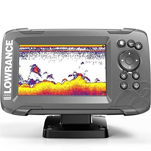 Lowrance HOOK2-5X GPS Hook2 Splitshot HDI-Rilevatore di Pesci, 12,7 cm (5 Pollici) Unisex-Adulto, Nero, 5 zoll