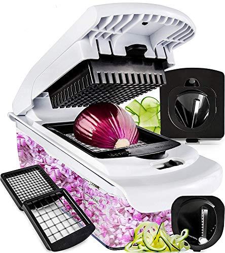 Fullstar Vegetable Chopper - Spiralizer Vegetable Slicer - Onion...
