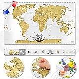 Scrape off World Map - Carte du monde à gratter - Carte mondiale en français -...